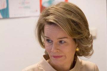 Queen Mathilde of Belgium Queen Mathilde Visits Lokeren