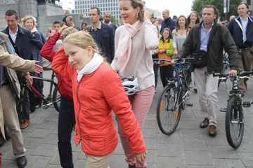 Queen Mathilde of Belgium King Philippe Of Belgium And Queen Mathilde Of Belgium Attend The Car Free Day In Brussels