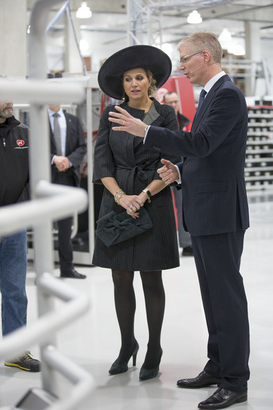 Queen Maxima of The Netherlands and Alexander van der Lely  open the Sustainable Industrial Centre Lely Campus on January 30, 2014 in Maassluis, Netherlands.