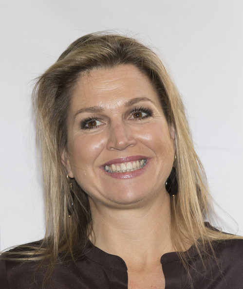 Queen Maxima of The Netherlands attends an evening with parents discussing financial education at elementary school The Archipel on April 14, 2014 in Almere, Netherlands.