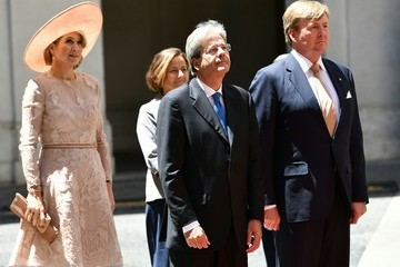 Queen Maxima King And Queen Of The Netherlands Visit Italy : Day Two