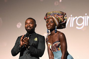 Lupita Nyong'o and David Oyelowo attend the Gala Screening of Disney's 'Queen Of Katwe' during the 60th BFI London Film Festival at Odeon Leicester Square on October 9, 2016 in London, England.