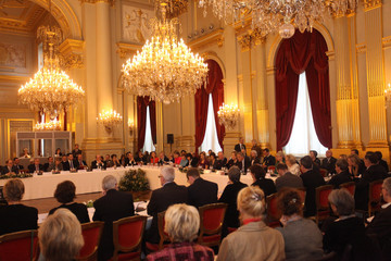 """Infanta Cristina Queen Paola of Belgium Hosts a Conference About """"Vulnerable Children On The Run"""""""