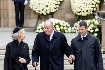 Queen Sofia King Juan Carlos I Funeral Of Grand Duke Jean Of Luxembourg