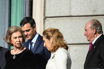 Queen Sofia King Juan Carlos I Spain Celebrates Forty Years Of Their Constitution