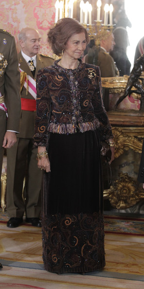 Queen Sofia - Spanish Royals Celebrate New Year's Military Parade 2013