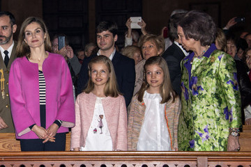 Queen Sofia Easter Mass in Palma de Mallorca