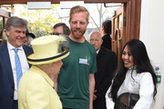 Queen Elizabeth II meets members of Goodenough College during a visit on December 1, 2016 in London, England.  Goodenough College is the leading residential community for British and international postgraduate students studying in London.