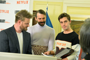 "Cast members of ""Queer Eye"" (left-right)  Bobby Berk, Jonathan Van Ness and Antoni Porowski at The Library of Congress on April 03, 2019 in Washington, DC."
