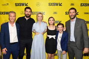 "Brad Fuller,  John Krasinski, Emily Blunt, Millicent Simmonds, Noah Jupe, and Andrew Form attend the ""A Quiet Place"" Premiere 2018 SXSW Conference and Festivals at Paramount Theatre on March 9, 2018 in Austin, Texas."