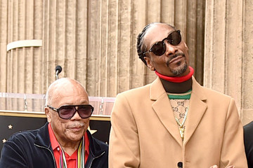 Quincy Jones Snoop Dogg Honored With Star On The Hollywood Walk Of Fame