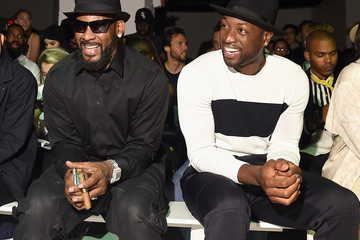 R. Kelly Dwayne Wade The Front Row of Ovadia & Sons at New York Fashion Week