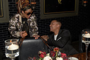Da Brat and Shad Moss attend 'Rémy Martin and Award-Winning Producer Jermaine Dupri Intimate Dinner To Celebrate The Upcoming Sixth Season of Producers Series' at American Cut on March 28, 2019 in Atlanta, Georgia.