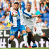 David Lopez Photos - David Lopez (L) of RCD Espanyol controls the ball under pressure from Rodrigo Moreno of Valencia CF during the La Liga match between RCD Espanyol and Valencia CF at RCDE Stadium on August 26, 2018 in Barcelona, Spain. - RCD Espanyol v Valencia CF - La Liga