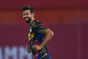 Gerard Pique of FC Barcelona looks on during the warm up prior to the Liga match between RCD Mallorca and FC Barcelona at Estadio de Son Moix on June 13, 2020 in Mallorca, Spain.