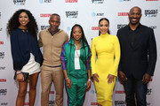 (L-R) Aoki Lee Simmons, Jeff Johnson, Tamika Mallory, Angela Rye, and Van Jones attend the REVOLT X AT&T 3-Day Summit In Los Angeles - Day 1 at Magic Box on October 25, 2019 in Los Angeles, California.