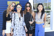 (L-R) Dani Song, Camila Coelho, Aimee Song and Raissa Gerona attend the Austin Style Brunch hosted by REVOLVE, Who What Wear and Ciroc at Josephine House on March 14, 2016 in Austin, Texas.