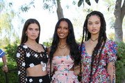 (L-R) Sara Sampaio, Jasmine Tookes and Shanina Shaik attend #REVOLVEfestival Day 1 at Merv Griffin Estate on April 13, 2019 in La Quinta, California.