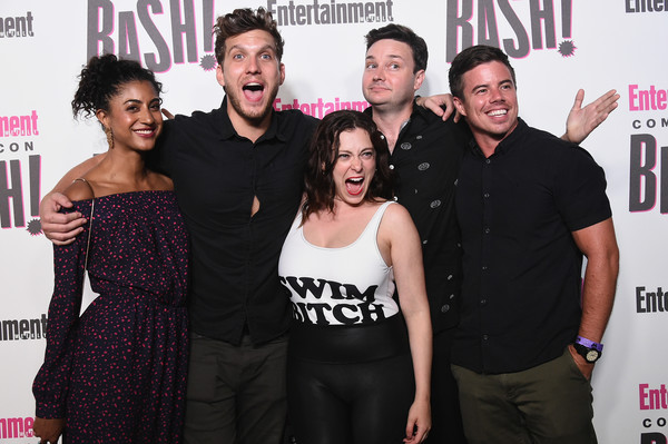 Entertainment Weekly Hosts Its Annual Comic-Con Party At FLOAT At The Hard Rock Hotel In San Diego In Celebration Of Comic-Con 2018 - Arrivals [entertainment weekly hosts its annual comic-con party at float at the hard rock hotel,san diego in celebration of comic-con 2018 - arrivals,event,premiere,performance,flooring,party,style,scott michael foster,vella lovell,david hull,rachel bloom,michael mcmillian,l-r,san diego,hard rock hotel]