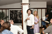 Rodger Berman and Rachel Zoe  attend the Rachel Zoe Collection Summer Dinner At Moby's East Hampton With FIJI Water, Tanqueray, And AUrateat Moby's on August 01, 2019 in East Hampton, New York.