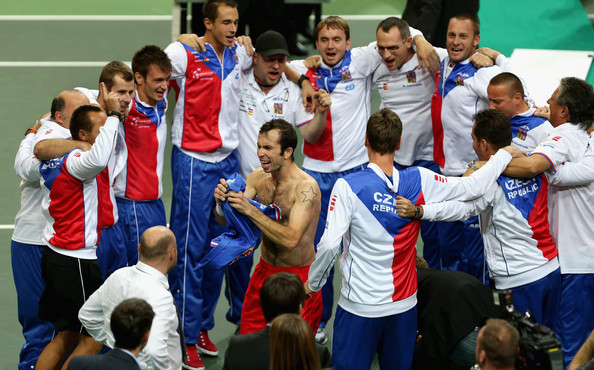 Radek Stepanek - Czech Republic v Spain - Davis Cup World Group Final - Day Three