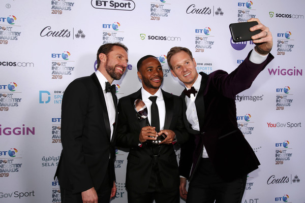 BT Sport Industry Awards 2019 [photo,award,event,technology,white-collar worker,employment,world,job,business,gareth southgate,raheem sterling,dan walker,r,bt sport industry awards,the integrity and impact award,england,world,event]