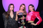 Madison Guest, Madison Reed and Victoria Justice attend the Raisavanessa front row during New York Fashion Week: The Shows at Gallery I at Spring Studios on February 12, 2020 in New York City.