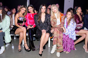 Madison Reed, Victoria Justice, Madison Guest and Devon Windsor attend the Raisavanessa front row during New York Fashion Week: The Shows at Gallery I at Spring Studios on February 12, 2020 in New York City.
