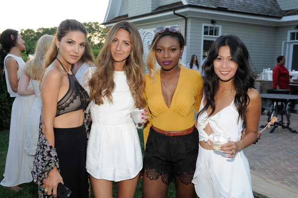 The REVOLVE Summer Party in the Hamptons Sponsored by DeLeon Tequila [event,beauty,fashion,youth,yellow,friendship,party,dress,model,tourism,arielle charnas,patricia bright,negin mirsalehi,raissa gerona,deleon tequila,l-r,hamptons,sagaponack,summer party,hamptons house]
