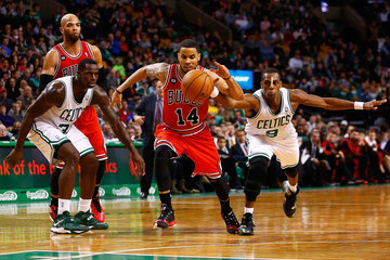 Rajon Rondo Chicago Bulls v Boston Celtics