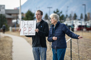 Pro-Life protestors Tim Smith of Colorado Springs, Colorado and Dianne Klazura of Monument, Co. demonstrate outside of the Colorado Springs Westside Health Center February 11, 2017 in Colorado Springs, Colorado.. The protest is part of nationwide demonstrations that were held at Planned Parenthood locations in more than 200 cities in an attempt to raise support for restricting women's ability to have abortions in the United States.
