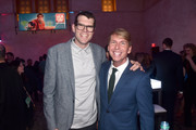 """Actors Timothy Simons (L) and Jack McBrayer attend the World Premiere of Disney's """"RALPH BREAKS THE INTERNET"""" at the El Capitan Theatre on November 5, 2018 in Hollywood, California."""