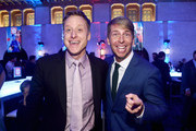 """Actors Alan Tudyk (L) and Jack McBrayer attend the World Premiere of Disney's """"RALPH BREAKS THE INTERNET"""" at the El Capitan Theatre on November 5, 2018 in Hollywood, California."""