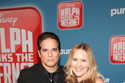 """Yul Vazquez (L) and Actor Linda Larkin attend the World Premiere of Disney's """"RALPH BREAKS THE INTERNET"""" at the El Capitan Theatre on November 5, 2018 in Hollywood, California."""