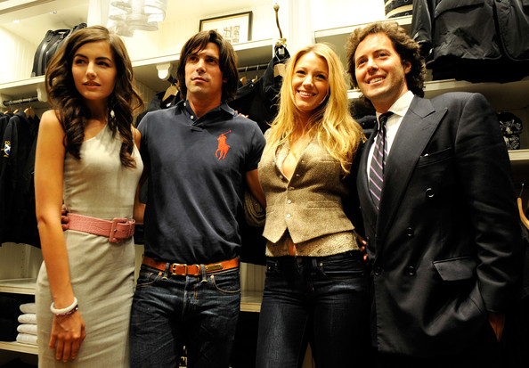 Actress Camilla Belle, polo player Nacho Figueras, actress Blake Lively and David Lauren