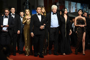 """Sylvester Stallone and the cast and crew of Last Blood attend the screening of """"Rambo - First Blood"""" during the 72nd annual Cannes Film Festival on May 24, 2019 in Cannes, France."""