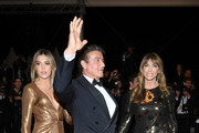 """(L-R) Sophia Rose Stallone, Sylvester Stallone and Jennifer Flavin attend the screening of """"Rambo - First Blood"""" during the 72nd annual Cannes Film Festival on May 24, 2019 in Cannes, France."""