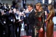 """Sylvester Stallone, Jennifer Flavin and Sistine Rose Stallone attend the screening of """"Rambo - First Blood"""" during the 72nd annual Cannes Film Festival on May 24, 2019 in Cannes, France."""