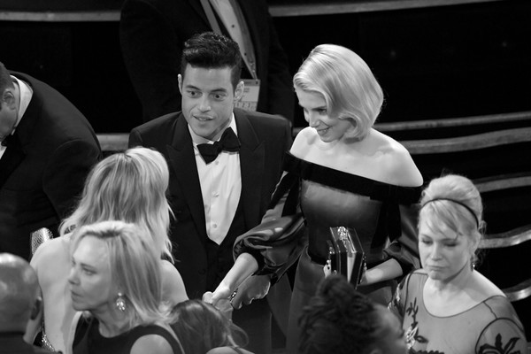 91st Annual Academy Awards - Creative Perspective [image,photograph,white,monochrome,black-and-white,event,snapshot,ceremony,monochrome photography,photography,wedding,rami malek,lucy boynton,academy awards,perspective,l-r,california,hollywood,dolby theatre,annual academy awards]