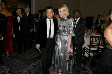 Rami Malek Lucy Boynton 77th Annual Golden Globe Awards - Cocktail Reception