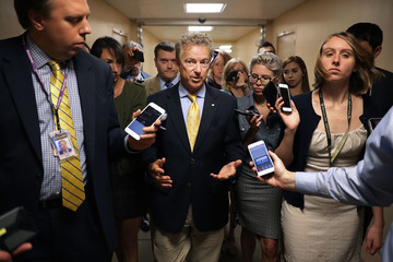 Rand Paul  Senators Return To Capitol Hill After 'Skinny Repeal' Of Obamacare Fails