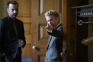 Rand Paul  Senate Lawmakers Address The Media After Their Weekly Policy Luncheons
