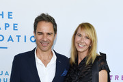 Eric McCormack (L) and Janet Holden arrive at The Rape Foundation's 2019 Annual Brunch Benefiting Rape Treatment Center and Stuart House at Santa Monica-UCLA Medical Center on October 06, 2019 in Beverly Hills, California.