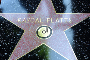 Rascal Flatts Rascal Flatts Honored On The Hollywood Walk Of Fame