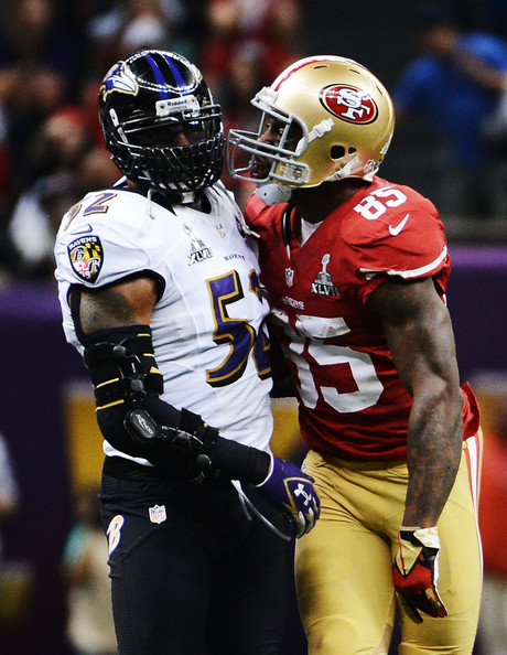 Ray Lewis and Vernon Davis Photos - 4 of 4. Super Bowl XLVII - Baltimore ... 7b5b4703d