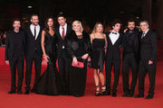 (L-R) Actors Sergio Meogrossi, Matteo Taranto, Madalina Ghenea, director Alessandro Gassman and actors Nadia Rinaldi, Carolina Facchinetti, Giovanni Anzaldo, Francesco Renga and Manrico Gammarota attend the 'Razza Bastarda' Premiere during the 7th Rome Film Festival at the Auditorium Parco Della Musica on November 17, 2012 in Rome, Italy.