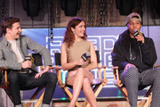 (L-R) Tye Sheridan, Olivia Cooke and Lena Waithe speak onstage during Ready Player One LIVE at SXSW, Powered by Twitch and IMDb on March 11, 2018 in Austin, Texas.