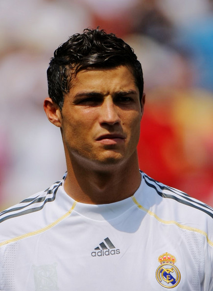Cristiano Ronaldo Cristiano Ronaldo #9 of Real Madrid stands during team