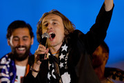 Luka Modric of Real Madrid CF greets the audience during the celebration of their victory on the UEFA Champions League Final match against Club Atletico de Madrid at Cibeles square on the early morning of May, 25, 2014 in Madrid, Spain. Real Madrid CF achieves their 10th European Cup at Lisbon 12 years later.