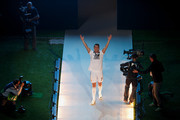 Real Madrid player Cristiano Ronaldo walks during the Real Madrid celebration the day after winning the UEFA Champions League final at Santiago Bernabeu Stadium on May 25, 2014 in Madrid, Spain. Real Madrid CF achieves their tenth European Cup at Lisbon at Lisbon 12 years later.